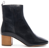 Etoile Isabel Marant Deyis Leather Baby Jane Boots in Black.