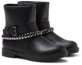 Lelli Kelly Kids Nancy Black Leather Studded Ankle Boots