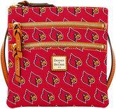 Dooney & Bourke Louisville Cardinals Triple Zip Crossbody Bag