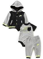 Nike Baby Boys Newborn-12 Months Color Block Fleece Hoodie Bomber Jacket & Pants & Air Short-Sl