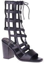 Sol Sana Ebony Heel Leather Sandals