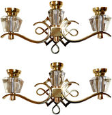 One Kings Lane Vintage Jules Leleu Sconces, Pair