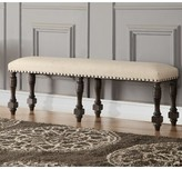 Laurèl Fortunat Upholstered Bench Foundry Modern Farmhouse Color: Espresso