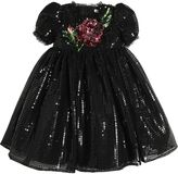 Dolce & Gabbana Rose Sequins & Tulle Party Dress