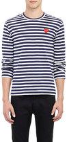 Comme des Garcons Men's Striped Long-Sleeve T-Shirt-BLACK