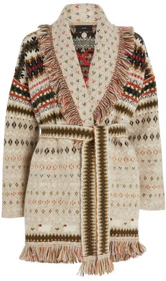 Alanui Embroidered Cashmere Cardigan