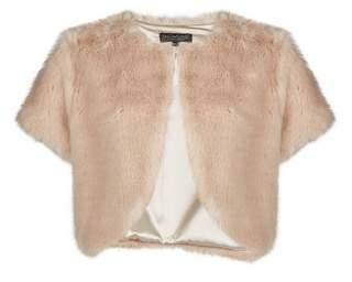 Dorothy Perkins Womens **Showcase Neutral Fur Bolero