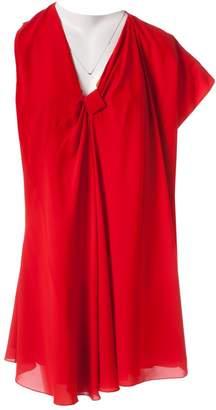 Bouchra Jarrar Red Silk Dress for Women