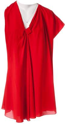 Bouchra Jarrar Red Silk Dresses