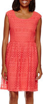 Ronni Nicole Sleeveless Lace A-Line Dress