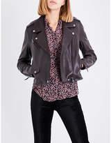 Paige Danette leather biker jacket