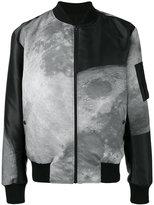 Christopher Raeburn moon print reversible bomber jacket - men - Polyester/Recycled Polyester - M