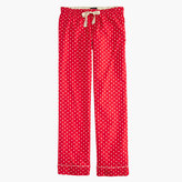 J.Crew Tall pajama pant in polka-dot flannel
