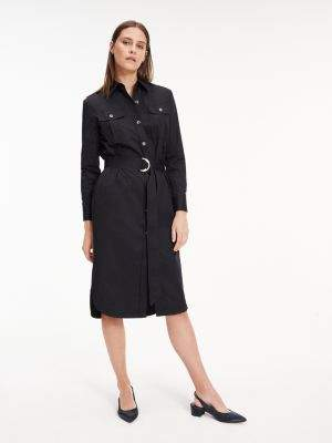 Tommy Hilfiger Long Sleeve Utility Shirt Dress