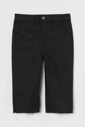 H&M Denim Shorts High Waist - Black