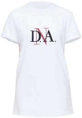 Diana Arno White Crew Neck T-Shirt With DnA Logo