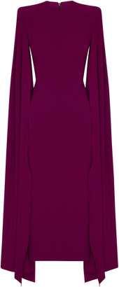 Alex Perry Kennedy Satin-Crepe Cape Dress