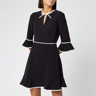 Ted Baker Women's Dindy Skater Dress with Bow Binding - Black - 1/UK 8