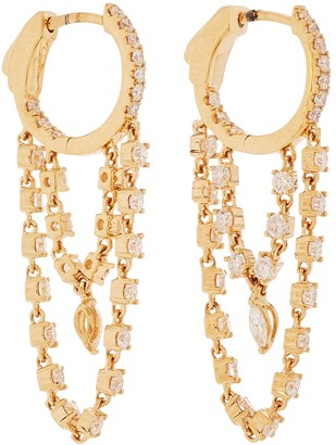 Anita Ko Sophia 18kt Gold Huggie Earrings