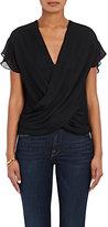 L'Agence Women's Lita Silk Blouse-BLACK