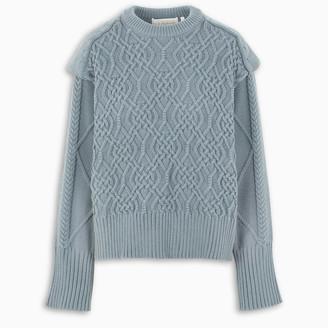 REMAIN Birger Christensen Light blue Diana O-neck sweater
