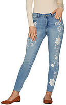 Hot in Hollywood Classic Denim Embroidered Ankle Jeans