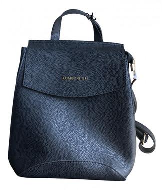 Romeo Gigli Black Leather Backpacks