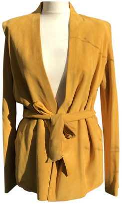 Hermes Yellow Leather Jackets