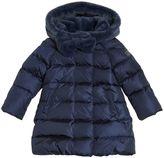 Il Gufo Nylon & Faux Fur Down Coat