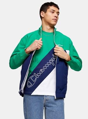 Topman CHAMPION Green 90's High Zip Jacket