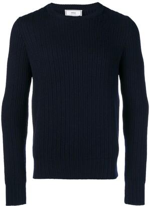 Ami Paris ribbed crew neck sweater