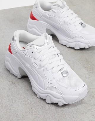 Puma Pulsar Wedge sneakers in metallic white