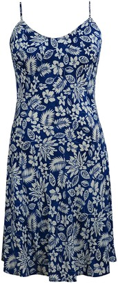 Velvet Torch Botanical Floral Slip Midi Dress