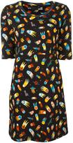 Love Moschino falling stars print dress