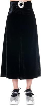 Miu Miu Black Velvet Short Crystal Dress