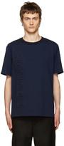 Juun.J Navy Embossed Lettering T-Shirt