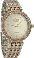 MC M&c Ferretti Women's | Stoned Bezel Two-Tone Mini Dial Watch | FT14102