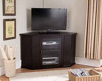 Kings Brand 47-Inch Wood Corner TV Stand Entertainment Center With Cabinets Storage Shelves