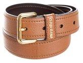 Miu Miu Leather Logo Belt