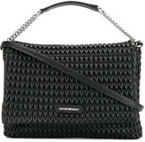 Emporio Armani textured shoulder bag - women - Cotton/Polyester/Polyurethane/Spandex/Elastane - One Size