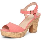 Dorothy Perkins Womens Pink 'Romana' Platform Wedge Sandals- Pink