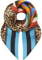 Diane von Furstenberg Belmont striped square silk scarf
