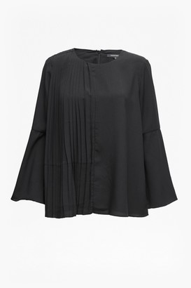 French Connection Light Crepe Bell Sleeved Top