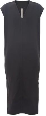 Rick Owens V-neck Side-slit Crepe Dress - Black