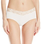 Wacoal Women's New Cotton Suede Hipster Panty