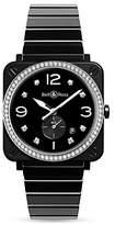Bell & Ross Br S Black Ceramic Diamond Watch, 39mm