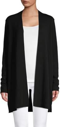 Eileen Fisher Long-Sleeve Merino Wool Open-Front Cardigan