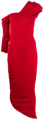 Gianfranco Ferré Pre Owned 1990s Stretch Gathered Long Dress