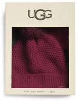 UGG Pom-Pom Wool-Blend Hat and Smart Gloves Set