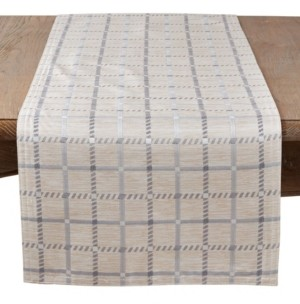 Saro Lifestyle Long Table Runner with Checkered Print